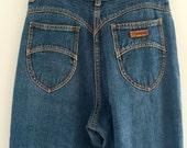 Vintage 80's Gitano Jeans / High Waist Straight Leg Boyfriend Fit M 28