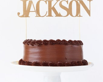 Birthday Cake Topper Personalized Boy Name Cake Topper Cake Decoration Boys Birthday Kraft Party Supplies Custom Smash Cake Topper Kids Cake