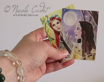 Celtic Goddess Collection of 2 limited edition ACEO prints - Rhiannon and Brigid