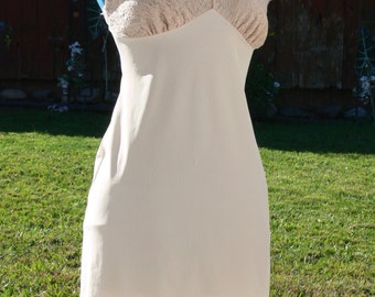 figurefit cream dress slip size 34 bust