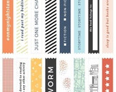 March 2016 This Life Noted Bookworm Clear Tape Stickers