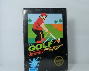 Vintage NES Original Nintendo Entertainment System Video Game Golf Complete with Original Box Nintendo Sleeve and Instruction Booklet Manual