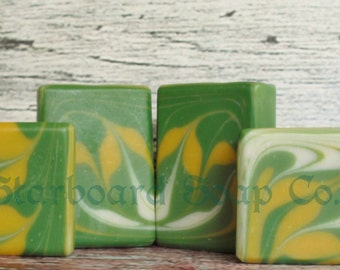Citrus Cilantro Soap Handmade with Shea Butter, Avocado oil and Sweet Almond Oil - Vegan Soap - Palm Free Soap