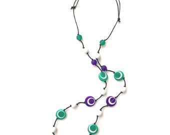 Nursing Necklace Babywearing Necklace Breastfeeding Beads - Purple, Green, White, Black