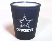 Dallas Cowboys Candle - Soy Shot Glass Candle - CHOICE OF SCENT