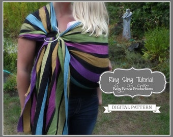 Baby Ring Sling Tutorial ~ Make your own baby carrier ~ ePattern