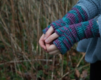 At the FunFair Fingerless Crochet Gloves