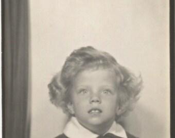 Vintage Photobooth Photo - Little Girl - Vintage Snapshot - Photo Booth - Vintage Photo - Paper Ephemera