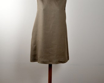 Brown linen tunic, tunic dress, hippie dress, aline dress, mini dress, short dress, simple dress, boho dress, alicecloset, Summer dress,
