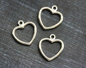 Sterling silver Heart charm, Silver heart, 925 silver, Add a Tag, Add On, for jewelry making - 1pc - 15mm - F359