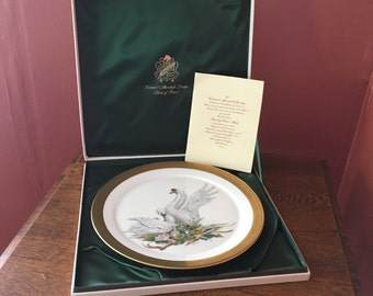 """Vintage 1972 Edward Marshall Boehm Porcelain """"Bird of Peace"""" Collector's Plate In Original Box"""