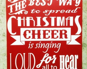 The  Best Way To Spread Christmas Cheer Sign Custom Hand Painted Wood Sign Gift For Holiday Decor Christmas Wood Sign
