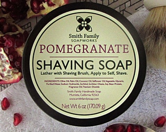 Women's Shaving Soap, Pomegranate Shave Soap, Shaving Soap Gift