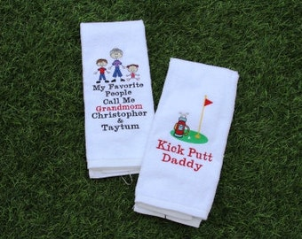 PERSONALIZED Golf Towels With Grommet Made to Order