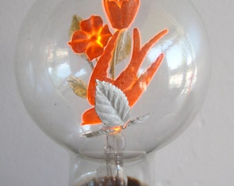 Vintage 40s Aerolux Electric Flowers Novelty Filiment Light Bulb Lamp & Box