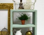 Green Shelf with Music Notes.....Milk Paint Salvaged Shelf