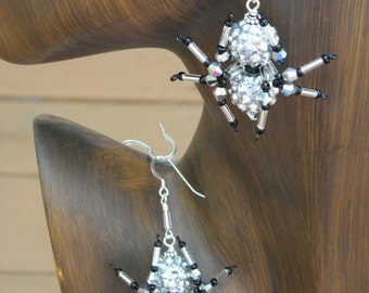 Beaded  Spider Earrings Spider Jewelry