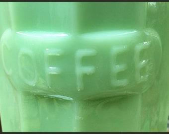 Jadeite Coffee Canister