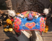 Hmong Vintage Tiger Baby Hats Beautiful,Old and Sweet Old Tribal Hat