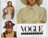 5 Hats And Bolero Size Xsml Sml Med Lrg Fashion Accessories Millinery Supplies Craft Sewing Pattern 1995 Patricia Underwood Vogue 9207