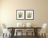 Fern Prints, Botanical Prints, Nature Photography, Nature Art, Natural Decor Large Wall Art, Green Art Woodsy Flora Set of 2 Fine Art Prints
