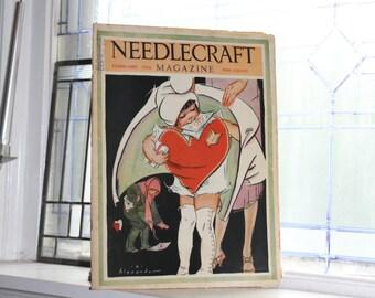 1928 Needlecraft Magazine February Issue Vintage 1920s Sewing