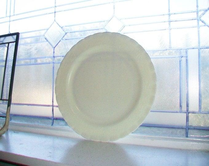 Large Vintage Cake Plate Ivory Chinex Classic 1930s Sandwich Platter