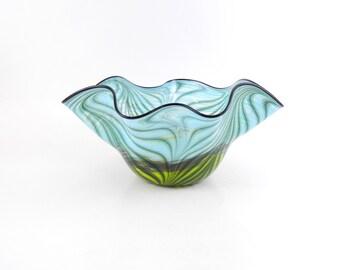 LARGE Blown Glass Bowl