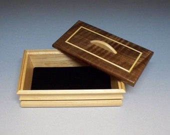 Keepsake Box, Trinket Box, Finely Crafted Small Wooden Box.