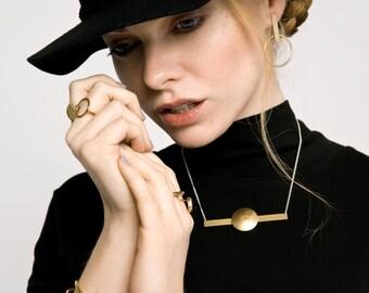 Orbital Necklace || Modern Geometric Gold Necklace