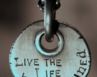 """Sterling Silver Medallion """"Live the Life You've Imagined"""""""
