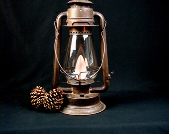 Rustic Lantern - Lighting - Upcycled Lantern - Battery Powered Lamp -