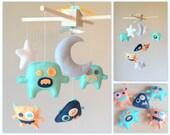 Baby Mobile - Crib mobile - Monster Mobile - Nursery Monster - Aliens Mobile