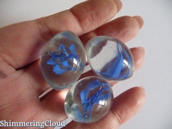 Glass Marbles Oval Marbles Rare Marbles Vintage Marbles