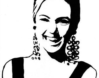 Edie Sedgwick Holding Glass Art Print