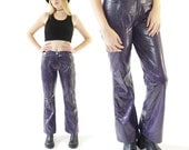 Reserved..Millenial 90s Snake Skin Vinyl Pants, 90's Pleather Club Kid Flares, Women's Size 9/10