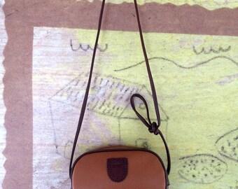 90s Esprit Crossbody Bag • Vintage 90s Brown Purse • Grunge Shoulder Bag • 90s Brand Purse • Vintage Grunge • Faux Leather Purse