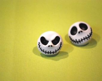 Nightmare Before Christmas Earrings -- Studs, Halloween, Jack Skellington Earrings