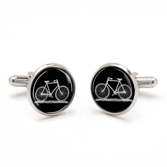 Bicycle Cufflinks - Cyclist Cufflinks - Cool and Unique Gifts for Men - Bike Cufflinks - Cyclist Jewelry - Birthday Gift for Boyfriend