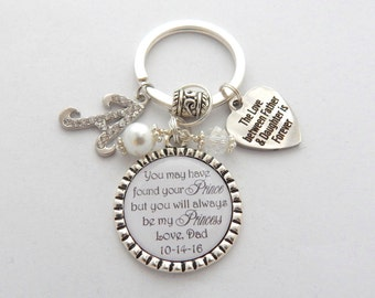 Gift From DAD to DAUGHTER- Bride to Be Keychain-Gifts for Brides from Dad-Gifts from Father to Daughter- Love Between Father & Daughter