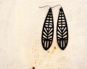 Dragonfly Leather Earrings