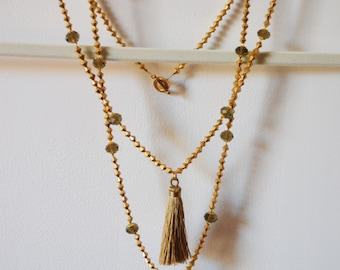 Anilah Fringe Necklace