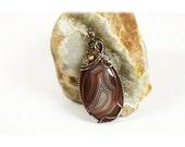 Lake Superior Agate / Lake Superior Agate Jewelry / Necklace / Copper Pendant