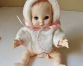 Effanbee Baby Doll, Baby Ginnette 2373, Original Clothes and Original Box, Extra Diaper and Bottle