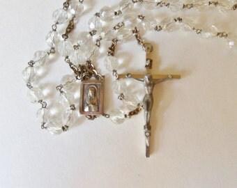 Italian Rosary, Roma Italy Roman Catholic Prayer Beads, Crucifix Virgin Mary Rosary Beads
