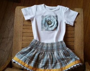 One-of-a-Kind Onesie with Skirt, size 6-12 months