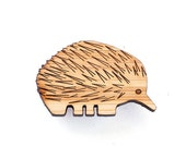 Echidna Brooch - lasercut brooch - Australian animal, Australian jewelry, animal brooch