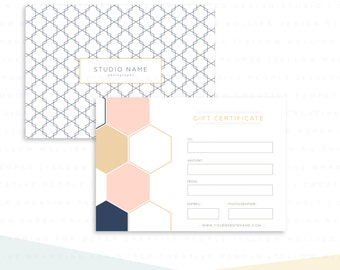 Photography Studio Gift Certificate Template - Marketing - Gift Card Photopshop Template - INSTANT DOWNLOAD - GC004