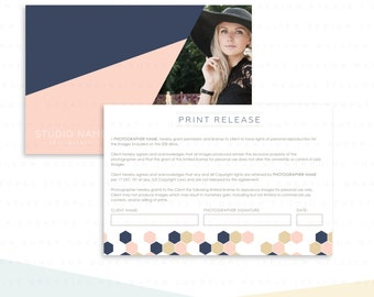 Print Release Template - Photography Marketing - Photography Studio Forms - Photoshop Template - INSTANT DOWNLOAD - DPR001