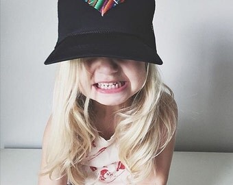 Kids Heart Trucker Hat by Roupolimama